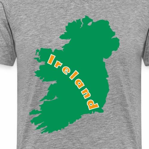 Irland Karte Grüne-Insel - Männer Premium T-Shirt