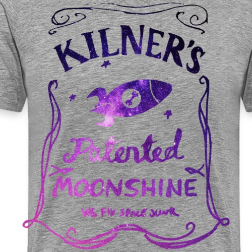 Kilner's Patented Moonshine (Stars Outline) - Men's Premium T-Shirt