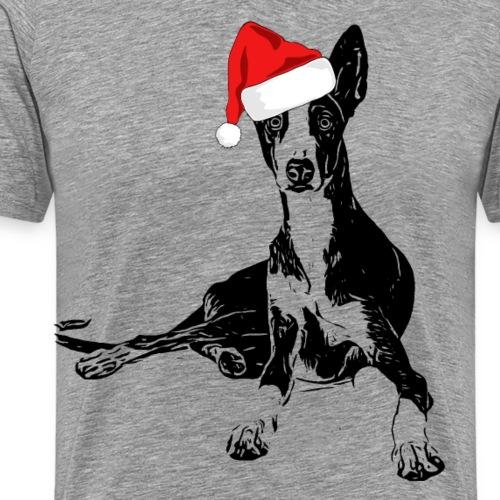 Weihnachten Podenco Hunde Geschenkidee - Männer Premium T-Shirt