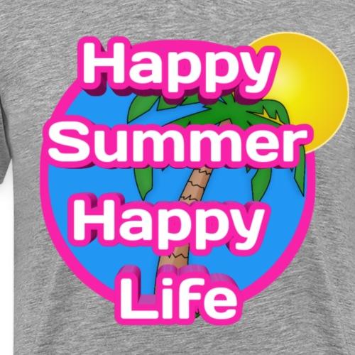 Happy Summer - Mannen Premium T-shirt