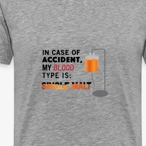 Whisky Hospital Drip light bg 01 - Men's Premium T-Shirt