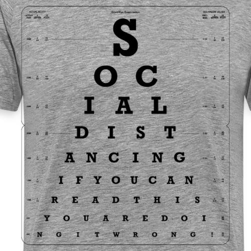 Social Distancing Eye Test - Men's Premium T-Shirt