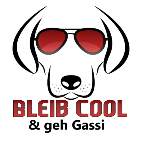 Bleib Cool und geh Gassi Hunde Geschenk - Männer Premium T-Shirt