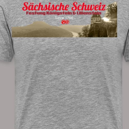 Sächsiche Schweiz - Festung Königstein - Männer Premium T-Shirt