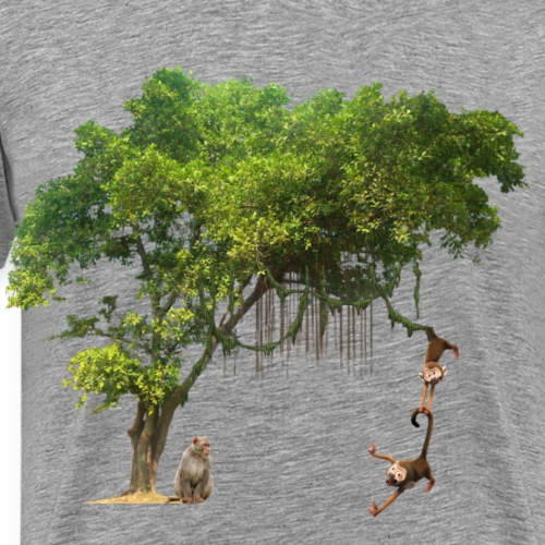 Affe im Jungel - Männer Premium T-Shirt
