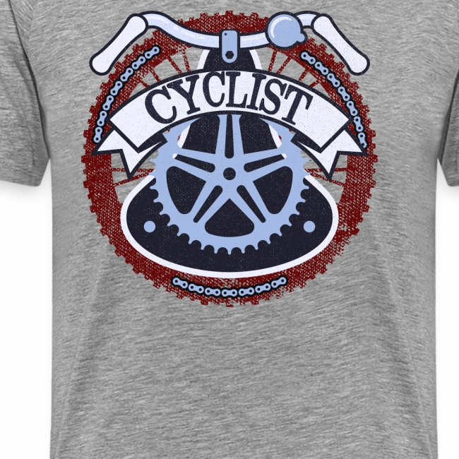 Cyclist Bike Shirt Grunge Retro Radfahrer Shirt