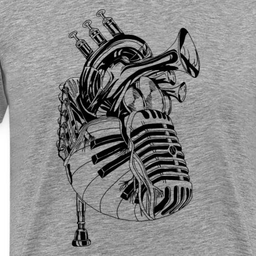Herz der Musik - Männer Premium T-Shirt
