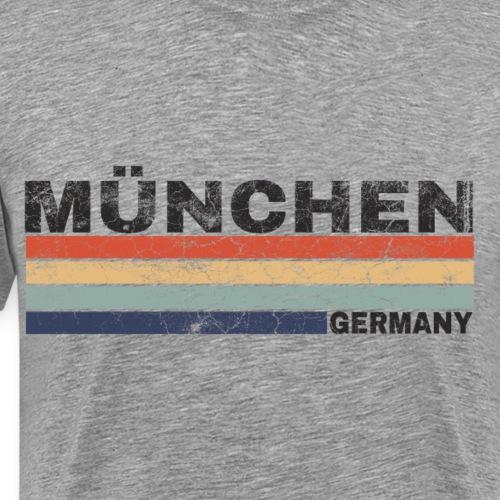München Deutschland Retro Schriftzug Städtedesign - Männer Premium T-Shirt