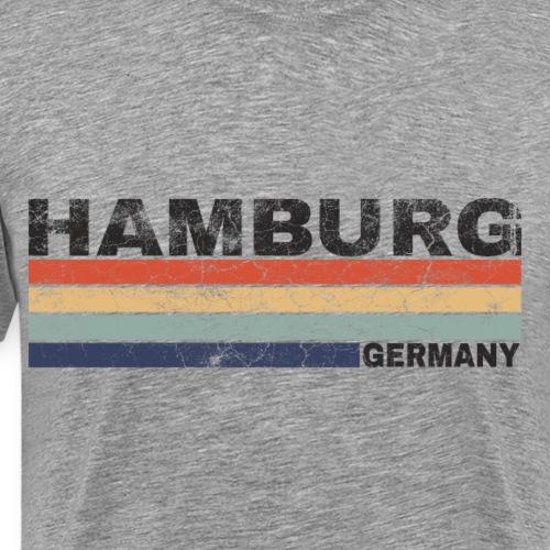 Hamburg Deutschland Retro Schriftzug Städtedesign - Männer Premium T-Shirt