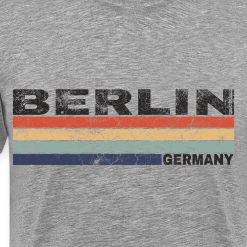 Berlin Deutschland Retro Schriftzug Städtedesign - Männer Premium T-Shirt