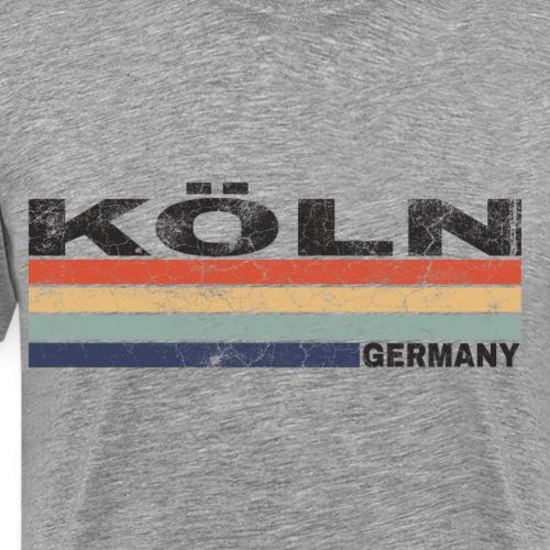 Köln Deutschland Retro Schriftzug Städtedesign - Männer Premium T-Shirt