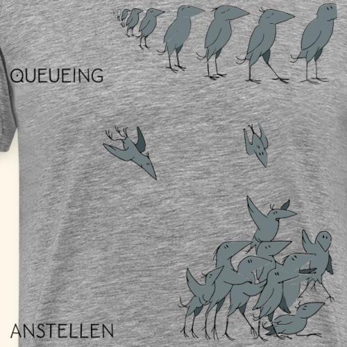 Krähe_queueing - Männer Premium T-Shirt
