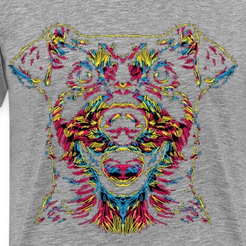 Retro Hund , New Version - Männer Premium T-Shirt