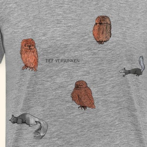 Eulen & Eichhörnchen - Männer Premium T-Shirt
