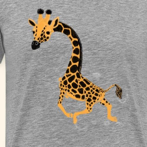 Giraffe schwimmend - Männer Premium T-Shirt