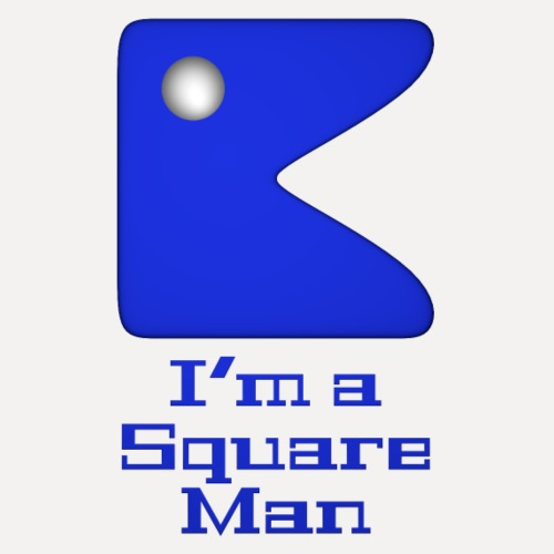 Square man blue - Men's Premium T-Shirt