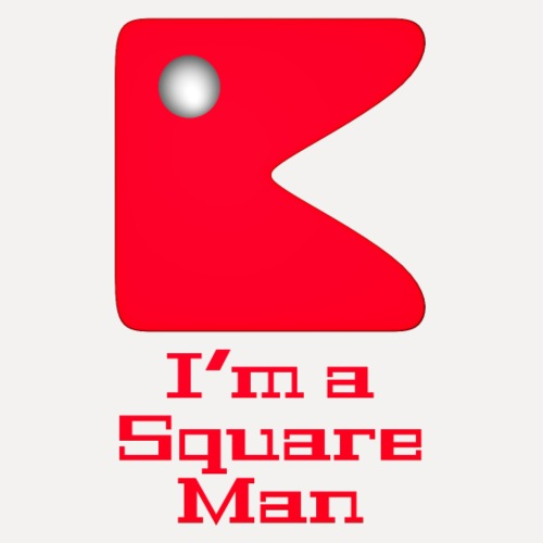 Square man red - Men's Premium T-Shirt