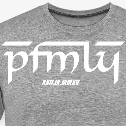 PaatoFamily mit Erstelldatum (white font) - Männer Premium T-Shirt