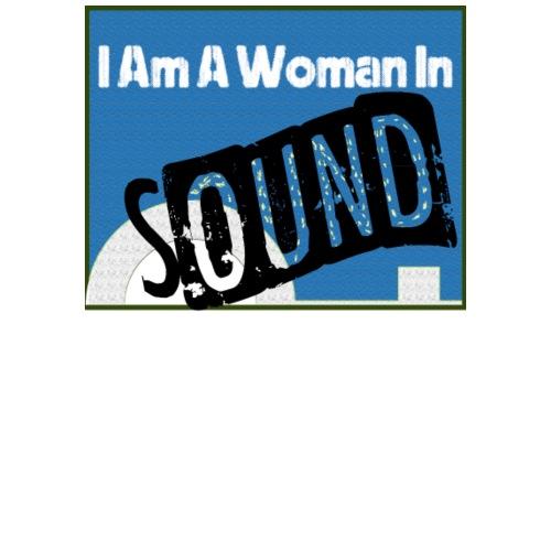 woman in sound - blue - Men's Premium T-Shirt