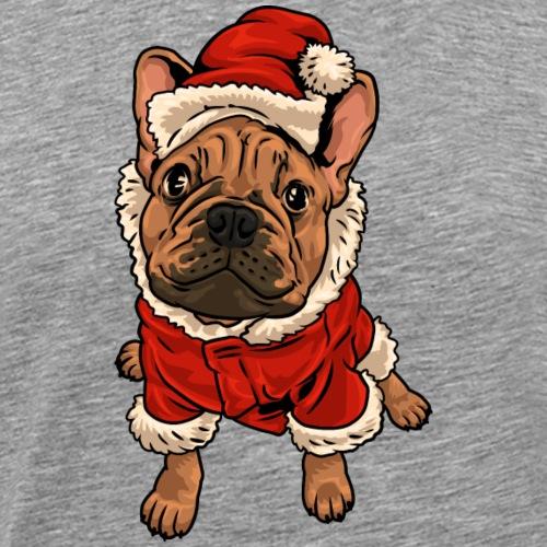Französische Bulldogge Winter - Männer Premium T-Shirt
