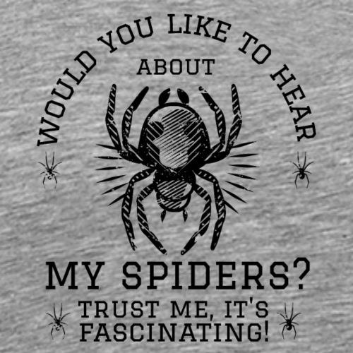 Fascinating Spiders Ii - Miesten premium t-paita