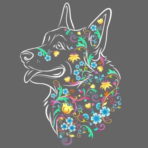 Flower Corgi - Miesten premium t-paita