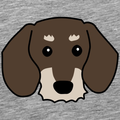 Rauhhaardackel - Männer Premium T-Shirt