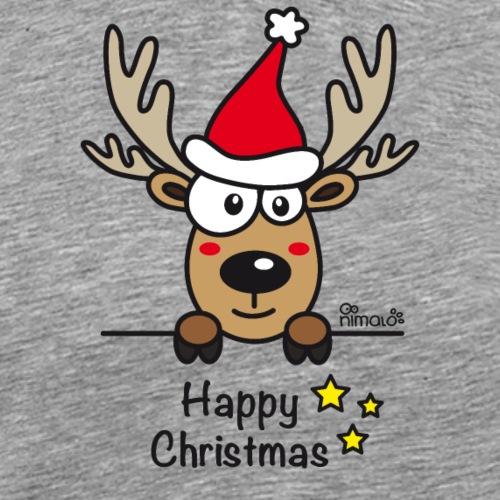 Renne Joyeux Noël - Happy Christmas - T-shirt Premium Homme