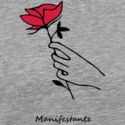 Rose manifestante (par éoline) - T-shirt Premium Homme