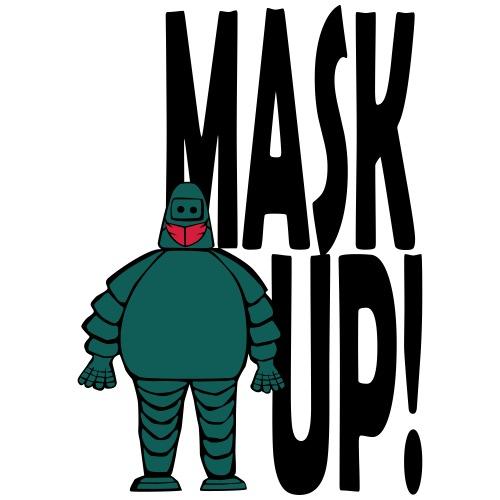 Mask Man Mask Up! - Men's Premium T-Shirt