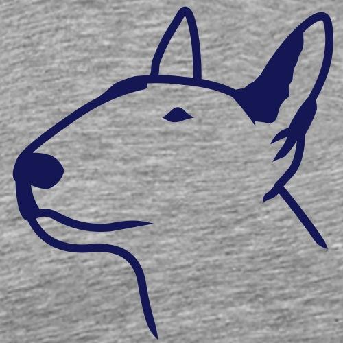 Bullterrier Head 1c - Männer Premium T-Shirt
