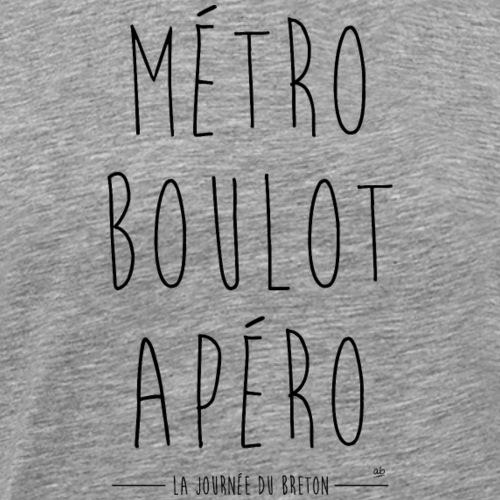 Métro Boulot Apéro - La journée du Breton - T-shirt Premium Homme