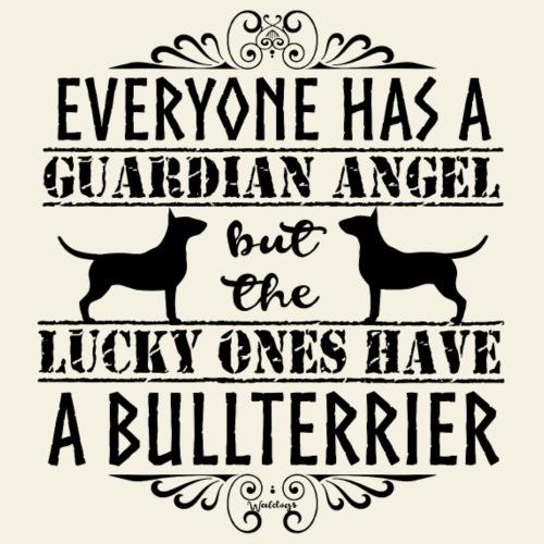 Bullterrier Angel 3 - Miesten premium t-paita