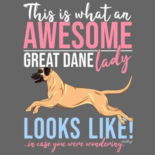 Great Dane Awesome III - Miesten premium t-paita