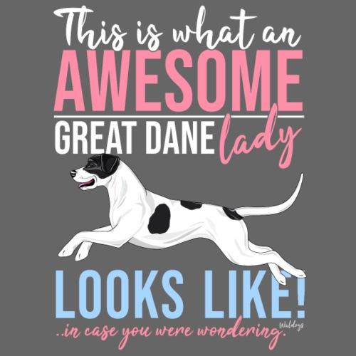 Great Dane Awesome V - Miesten premium t-paita