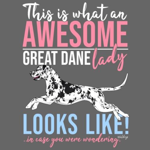 Great Dane Awesome VI - Miesten premium t-paita