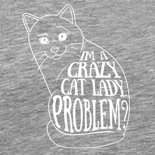 Crazy Cat Lady II - Miesten premium t-paita