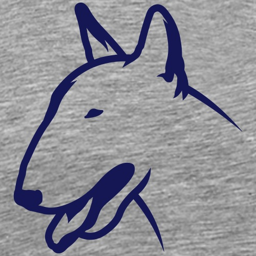 Bullterrier BULLY HEAD 1c_4light - Männer Premium T-Shirt