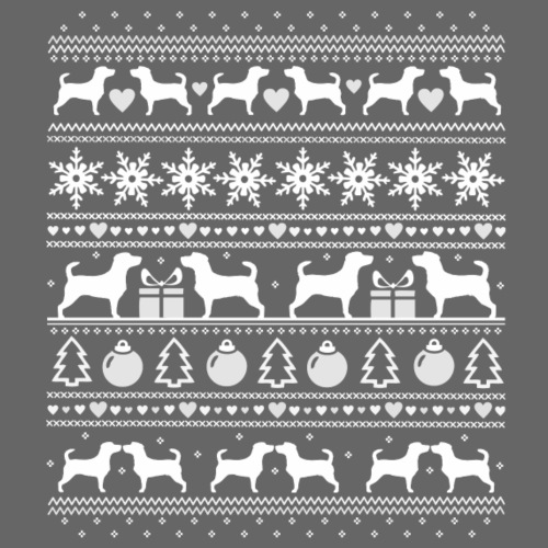 Jack Russell Christmas 2 - Miesten premium t-paita