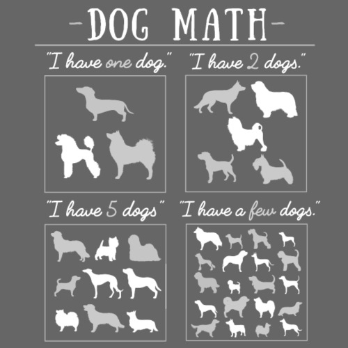 Dog Math II - Miesten premium t-paita