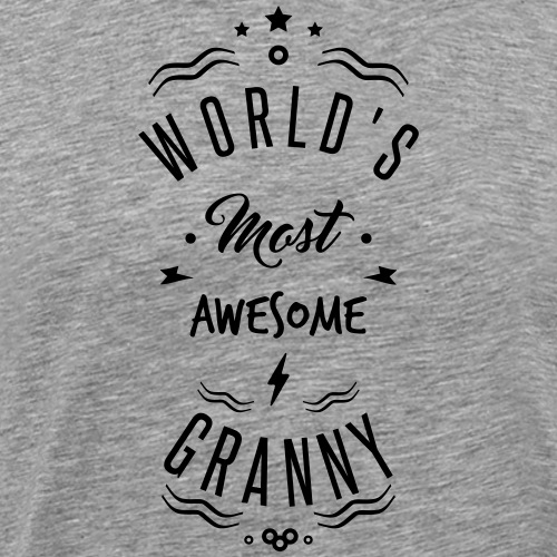 AWESOME GRANNY - T-shirt Premium Homme