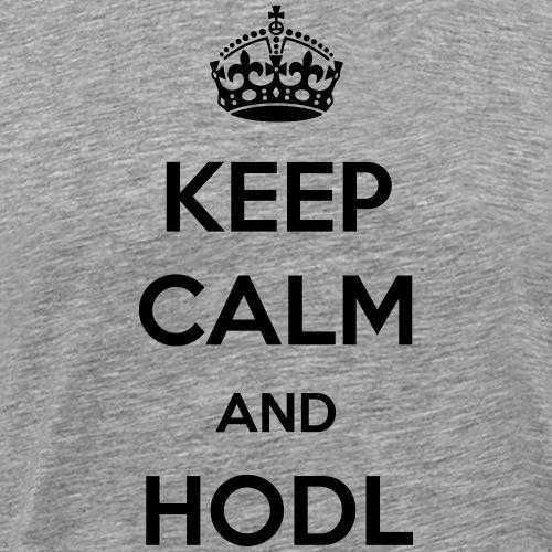 Keep calm and HODL | Black - Men's Premium T-Shirt
