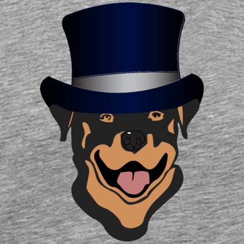 Rottweiler mit Zylinder - Männer Premium T-Shirt