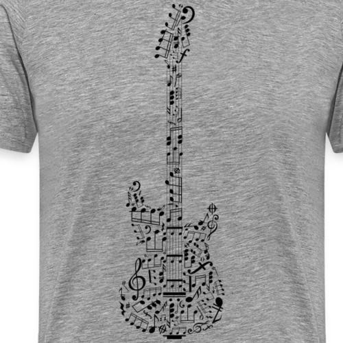 Gitarre in Musiknoten Motiv, New Edition,Gitarrist - Männer Premium T-Shirt