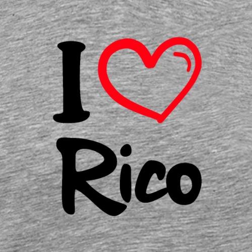 I LOVE RICO - Mannen Premium T-shirt