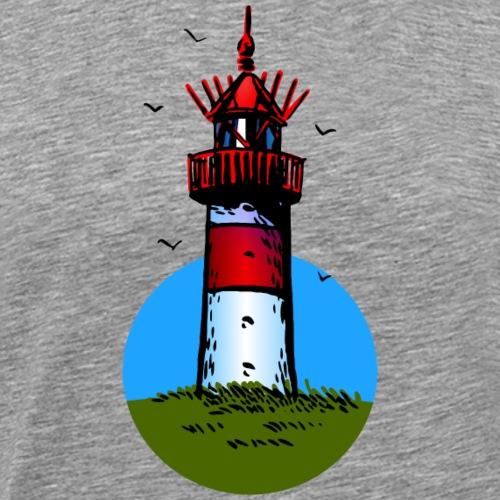 Leuchtturm Sylt Cartoon Design - Männer Premium T-Shirt