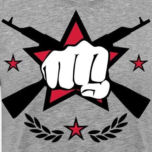 128 Logo Russland Faust im Stern Kalaschnikow - Männer Premium T-Shirt