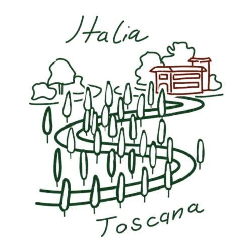 Italia T-Shirt Herren Toscana - Männer Premium T-Shirt