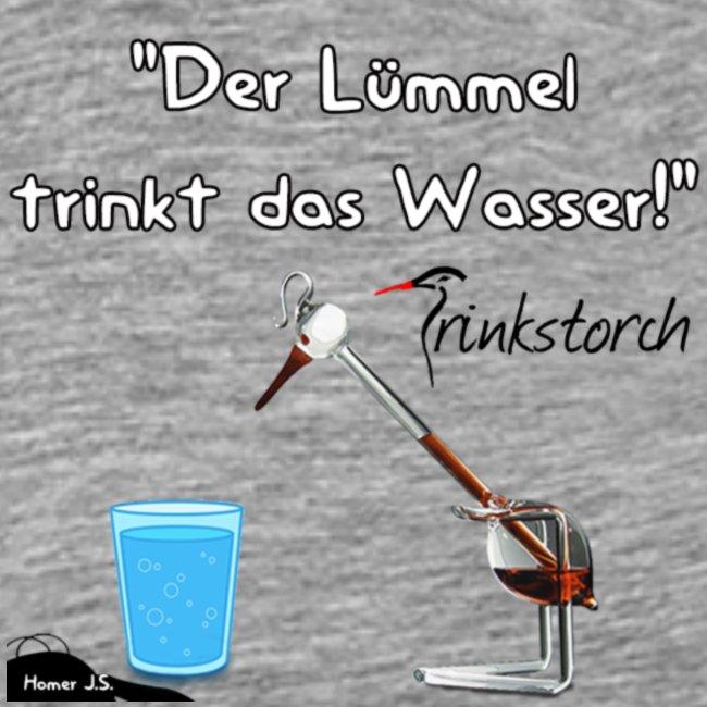 Pfalztastisch Der Lümmel Trinkt Das Wasser Männer Premium T Shirt