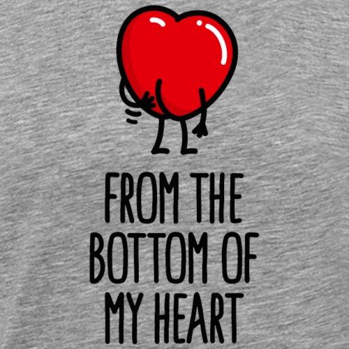 Uit de grond van mijn hart kont kont krabben - Mannen Premium T-shirt